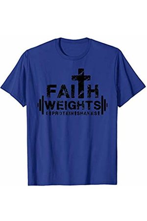 Avinu Apparel Faith Weights and Protein Shakes - Christian Fitness Gym T-Shirt