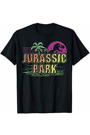 Jurassic Park Tropical Sunset Wavy Text T-Shirt
