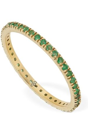 VANZI Annagreta Thin 18kt Gold & Emerald Ring