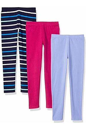 Amazon 3-Pack Legging Stripe/Pruple/Fuchsia