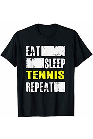BullQuack Tennis Eat Sleep Tennis Repeat - Funny Sports Athlete Quote Saying T-Shirt