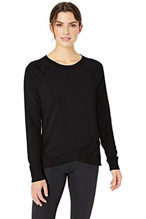 Amazon Studio Terry Long-Sleeve Cross-Front Sweatshirt Shirt