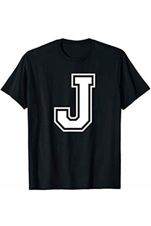 Varsity Letter Alphabet Co Letter J Alphabet Name Initial School Sports Team T-Shirt