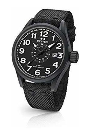 TW steel Unisex Adult Analogue Classic Quartz Watch with Textile Strap VS41