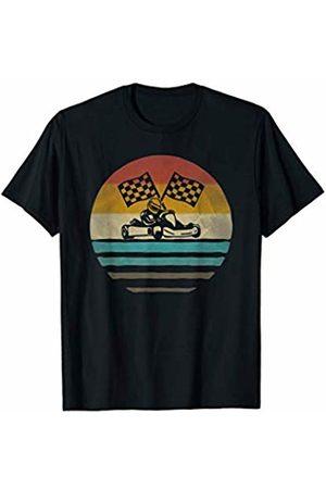 Merchalize Go Kart Racing Retro Vintage Sunset Old School Funny Gift T-Shirt