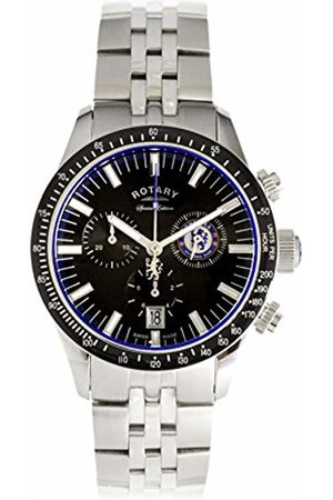 Rotary Mens Chronograph Quartz Watch with Stainless Steel Strap GB90048/04
