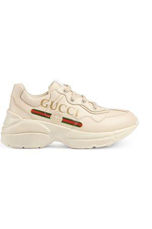 Gucci Girls Trainers - Children's Rhyton logo leather sneaker