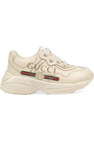 Gucci Toddler Rhyton logo leather sneaker