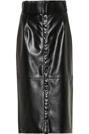 Msgm Faux leather midi pencil skirt