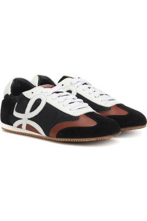 Loewe Logo nylon and leather sneakers