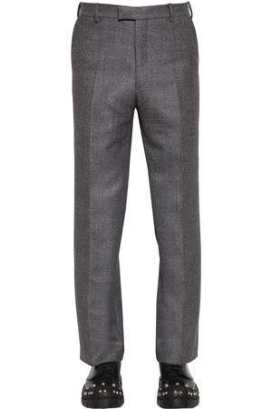 Prada 24cm High Waist Wool Trousers