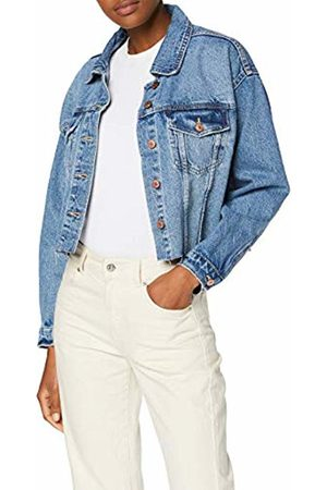 New Look 915 Women's Crop Pomagranate Denim Jacket