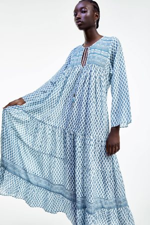 Zara Printed flowing dress