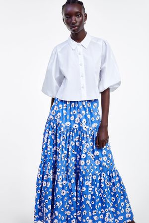 87bf6e6fba Zara floral-midi women's skirts, compare prices and buy online