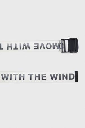 Zara Transparent slogan belt