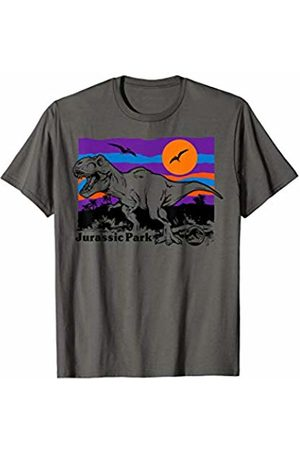 Jurassic Park Colorful Sunset T-Rex Jungle Logo T-Shirt