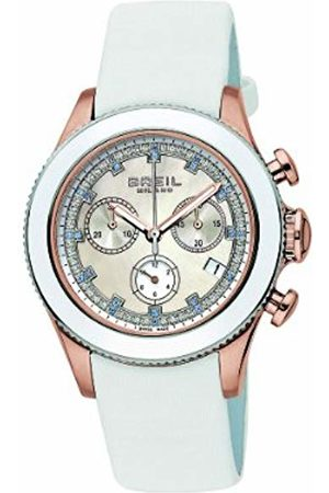 Breil Aquamarine Women's Quartz Watch with Mother of Pearl Dial Chronograph Display and Leather Strap BW0516