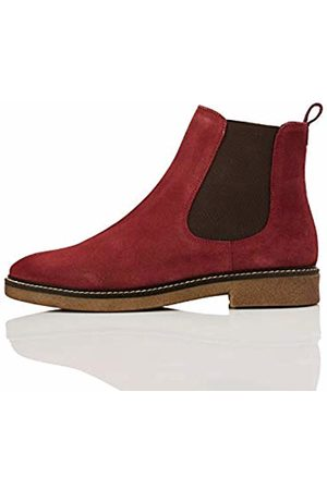 FIND Leather Gumsole Chelsea Boots, Wine