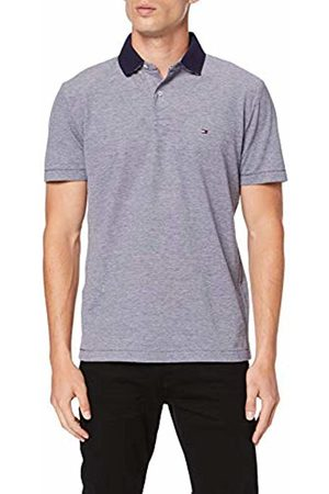 Tommy Hilfiger Men's Under Under Collar Print Regular Polo Shirt, (Maritime 431)