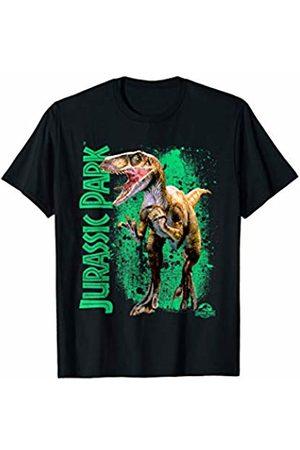 Jurassic Park Raptor Green Paint Splatter T-Shirt