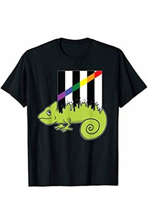 Gecko LGBT Support Apparel 40 - Crush Retro Straight Ally Chameleon Gay Rights Pride Week T-Shirt