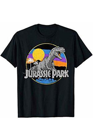 Jurassic Park T-Rex Retro Drawn Circle Logo T-Shirt