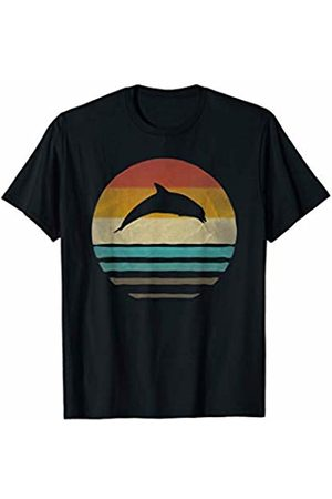 Merchalize Dolphin Aquatic Retro Vintage Sunset Old School Funny Gift T-Shirt