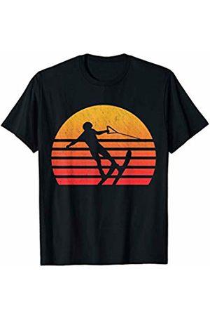Classic Vintage Retro T-Shirts Vintage Retro Sunset Water Skiing T-Shirt