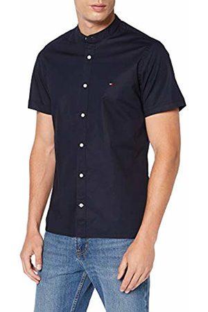 Tommy Hilfiger Men's Slim Stretch Mandarin Shirt S/s Sweatshirt