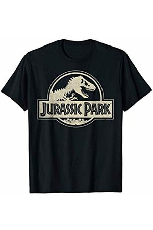 Jurassic Park Distressed Beige Flat Fossil Logo T-Shirt