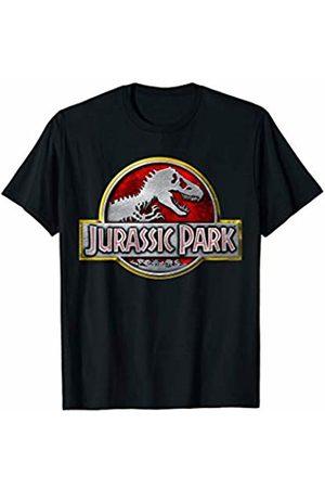 Jurassic Park Classic Chrome Logo T-Rex T-Shirt