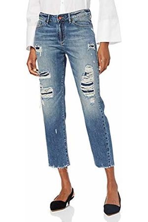 Armani Women's J16 Boyfriend Cropped Denim Jeans, (Indigo 1500)