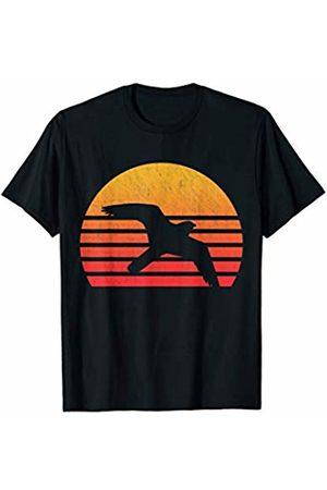 Classic Vintage Retro T-Shirts Women T-shirts - Vintage Retro Sunset Peregrine Falcon T-Shirt