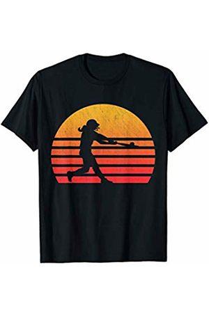 Classic Vintage Retro T-Shirts Vintage Retro Sunset Softball T-Shirt
