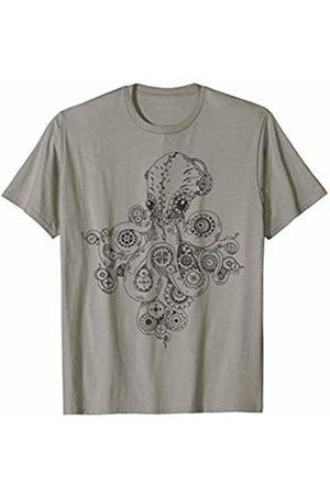 EDDArt Retro Futurism Steampunk Adventure Octopus 1 - Fan T-Shirt