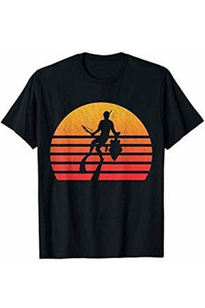 Classic Vintage Retro T-Shirts Vintage Retro Sunset Spearfishing T-Shirt