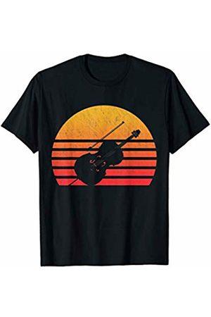 Classic Vintage Retro T-Shirts Vintage Retro Sunset Cello T-Shirt