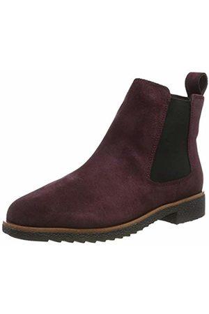 Clarks Women's Griffin Plaza Chelsea Boots, Braun Burgundy Suede