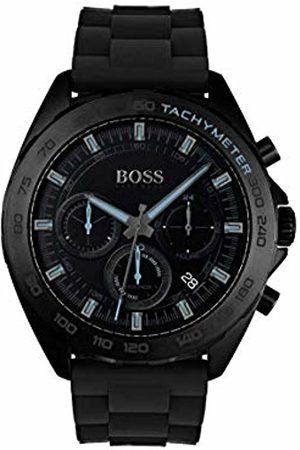 HUGO BOSS Mens Chronograph Quartz Watch with Silicone Strap 1513666