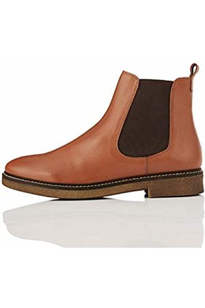 FIND Leather Gumsole Chelsea Boots, Brandy (Tan)
