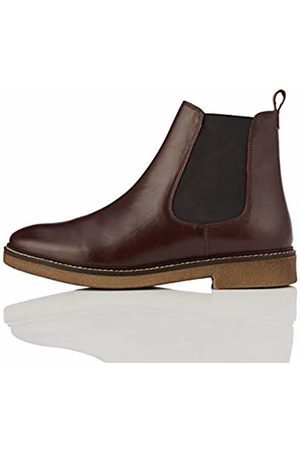 FIND Leather Gumsole Chelsea Boots, Plum