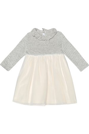 Il gufo Baby jersey and tulle dress