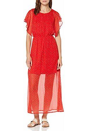 Vero Moda Women's Vmfay Capsl Ankle Dress WVN (Fiery AOP: Opaya ( Dots))