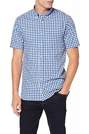 Tommy Hilfiger Men's Classic Gingham Shirt S/s Sweatshirt, Quartz/Bright WHITE903