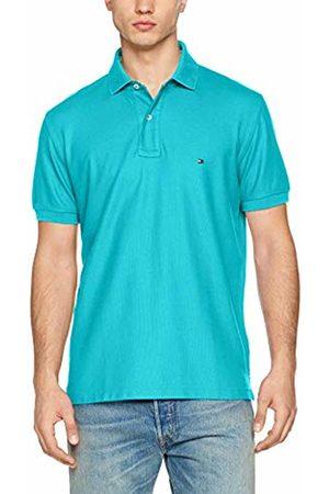 Tommy Hilfiger Men's Hilfiger Regular Polo Shirt, ( Atoll 480)