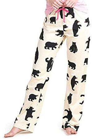 Hatley Women's Flannel Pajama Pant, White ( Bears on Natural)