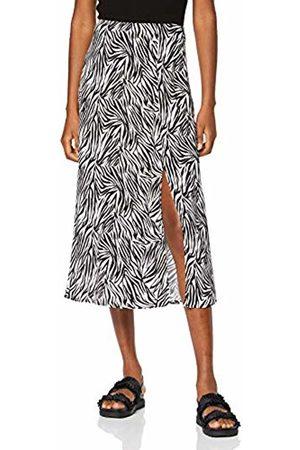 New Look Women's Gem Zebra Split Skirt, Pattern 9