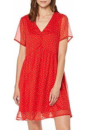 Vero Moda Women's Vmfay Ss Short Dress WVN (Fiery AOP: Opaya - ( Dots))