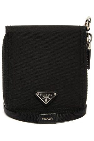 Prada Nylon And Saffiano-leather Necklace Wallet - Mens