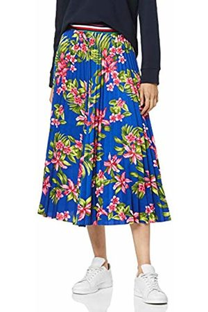Tommy Hilfiger Women's Erica Midi Skirt (Tropical Pleated/Surf The Web 413)